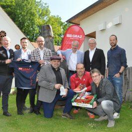 Graz Marathon Pressekonferenz beim Weinhof Scharl